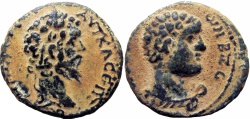 Ancient Coins - Biblical , Decapolis. Gadara. Septimius Severus. AD 193-211. Rarely offered in the market.