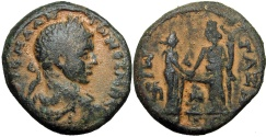 Ancient Coins - Palestine / Judaea , Gaza, Elagabalus 219/20 . Ex Frank Grove and Robert Grover collection . Ex Superior Galleries sale 1986 .