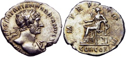 Ancient Coins - Hadrian. AD 117-138. bold and lovely golden toning .