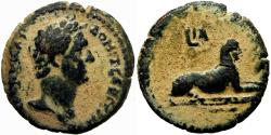 Ancient Coins - ROMAN EGYPT. Domitian, 81-96 AD. Depicts the famous  Sphinx at Giza