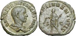 Ancient Coins - Herennius Etruscus. As Caesar, AD 249-251. Æ Sestertius.,  from the Ebert collection.