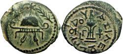 Ancient Coins - JUDAEA , Idumaean , Herodians. Herod I the Great (40-4 BC).