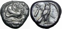 Ancient Coins - Phoenicia, Tyre AR Stater. Circa 425-394 BC.