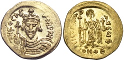 Ancient Coins -  Phocas. 602-610. Gold Solidus .