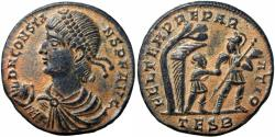 Ancient Coins - Constans. A.D. 337-350. AE 22 light majorina bold and strong strike.