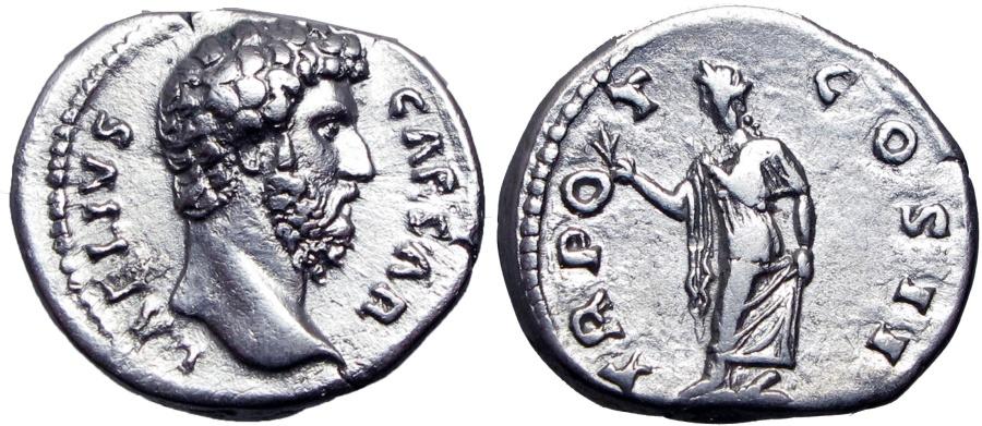 Ancient Coins - Aelius. Caesar, AD 136-138. Superb coin and metal .
