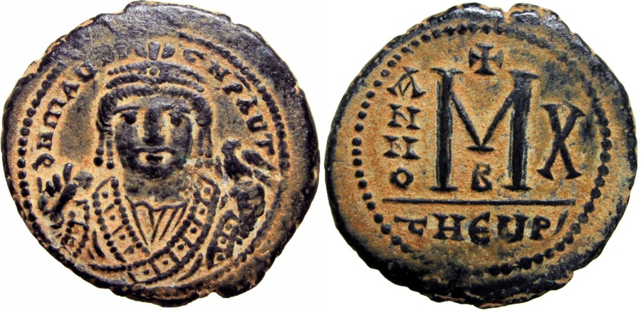 Ancient Coins - MAURICE TIBERIUS. 582-602 AD.