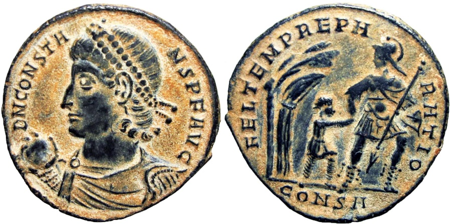 Ancient Coins - Constans. AD 337-350. Stunning details !!!