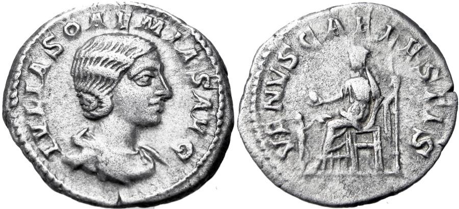 Roman Empire - AR denarius, Julia Soaemias Bassiana