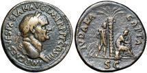 Ancient Coins - Vespasian Æ Sestertius. Rome, AD 71. Judaea Capta.