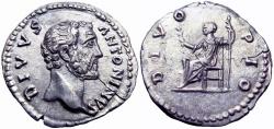 Ancient Coins -  Divus Antoninus Pius. Died AD 161.