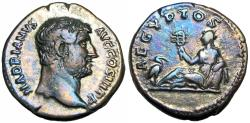 Ancient Coins - Hadrian. AD 117-138. travel to Egypt.
