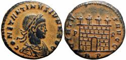 Ancient Coins - Constantine II, AE follis, Rome. AD 318-319. Unlisted in RIC .