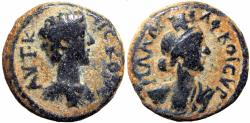 Ancient Coins - SYRIA, Decapolis. Philadelphia. Commodus. As Caesar, AD 166-177.