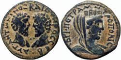 Ancient Coins - Marcus Aurelius and Lucius Verus Æ20 of Petra, Decapolis. 161-169 CE.
