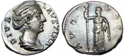 Ancient Coins - DIVA FAUSTINA SR., wife of Antoninus Pius Died 145 AD.