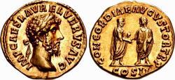 Ancient Coins - Lucius Verus. AD 161-169. AV Aureus, Lustrus .