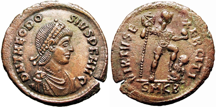 Ancient Coins - THEODOSIUS I. 379-395 AD. Stunning coin !!!!