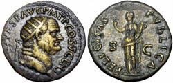 Ancient Coins - Vespasian. AD 69-79. Æ Dupondius , lovely portrait.