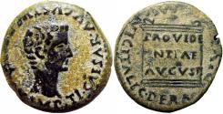 Ancient Coins - Tiberius Æ As of Italica, Spain. AD 14-37.