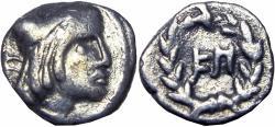 Ancient Coins - NABATAEA. Syllaeus. 9 BC. AR 1/4 Drachm.