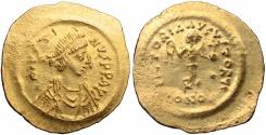 Ancient Coins -  JUSTIN I. 518-527 AD. AV Tremissis.