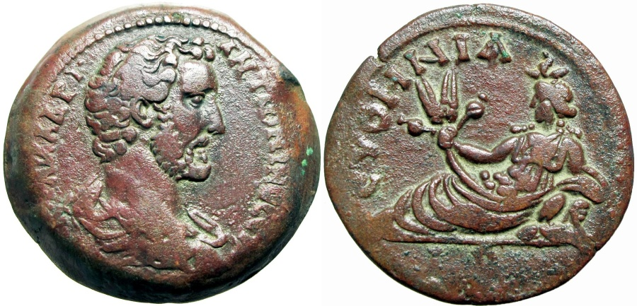 Ancient Coins - EGYPT, Alexandria. Antoninus Pius. AD 138-161. Æ Drachm, among the finest for the type Rare bust type  !!!