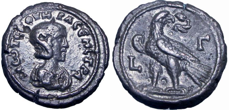 Ancient Coins - EGYPT, Alexandria. Otacilia Severa, wife of Philip I. Year 3 (245/246 AD).