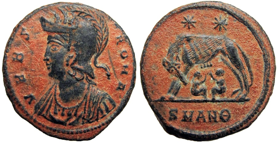 Ancient Coins - ROME COMMEMORATIVE. lovely bold example.