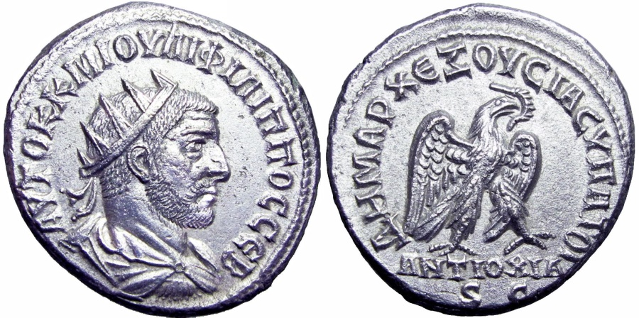 Ancient Coins - SYRIA, Seleucis and Pieria. Antioch. Philip I. AD 244-249. powerful portrait !!!!