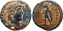 Ancient Coins - JOVIAN. 363-364 AD. Festival of Isis coinage. Alexandria, 4th century AD. Apearently unique !!!