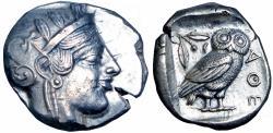 Ancient Coins - ATTICA, Athens. Circa 465/2-454 BC.