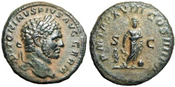 Ancient Coins - Caracalla. AD 198-217. Æ As, a superb example with high details !!!!
