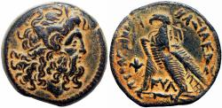 Ancient Coins - PTOLEMAIC KINGS of EGYPT. Ptolemy VI Philometor. First sole reign, 180-170 BC. countermark: Seleukid anchor.