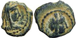 Ancient Coins - NABATAEA. Phasaelis wife Herod Antipas and daughter of Aretas VI . 9 BC-40 AD. Unpublished.