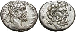 Ancient Coins - EGYPT. Alexandria. Septimius Severus (AD 193-211). Extremely rare and the finest ,nice solid silver .