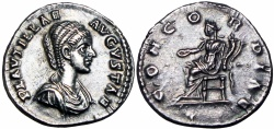 Ancient Coins - Plautilla. Augusta, AD 202-205., Boldly struck with nice old cabinet toning !!!