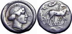 Ancient Coins - Katane. Tetradrachm ca. 430.