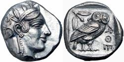 Ancient Coins - ATTICA, Athens. Circa 454-404 BC. Read notes.