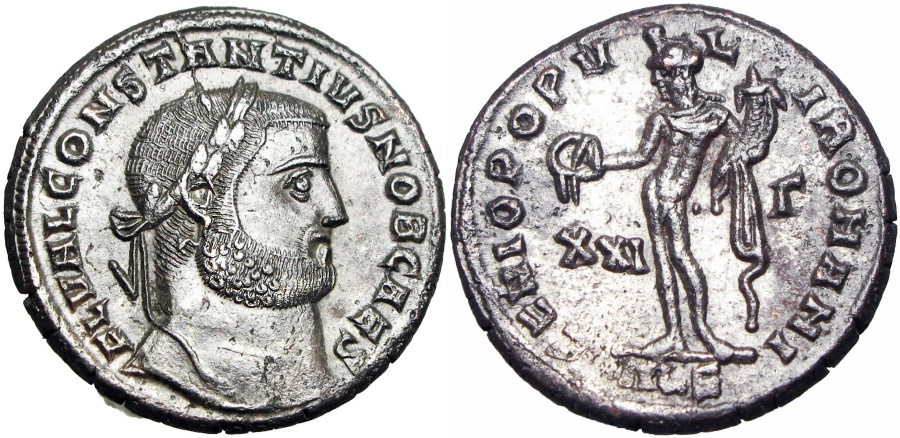 Ancient Coins -  Constantius I. As Caesar, AD 293-305. Stunning coin !!!