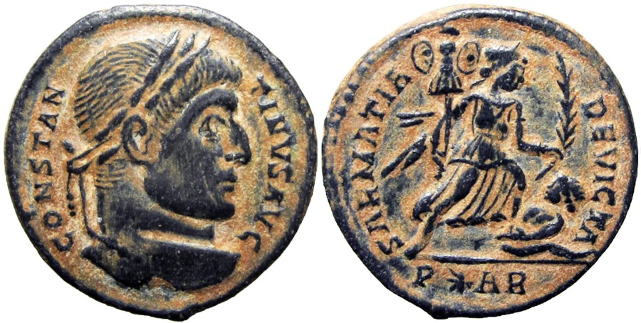 Ancient Coins - CONSTANTINE I. 307-337 AD. Arelate (Arles) mint. Struck 322/3 AD.