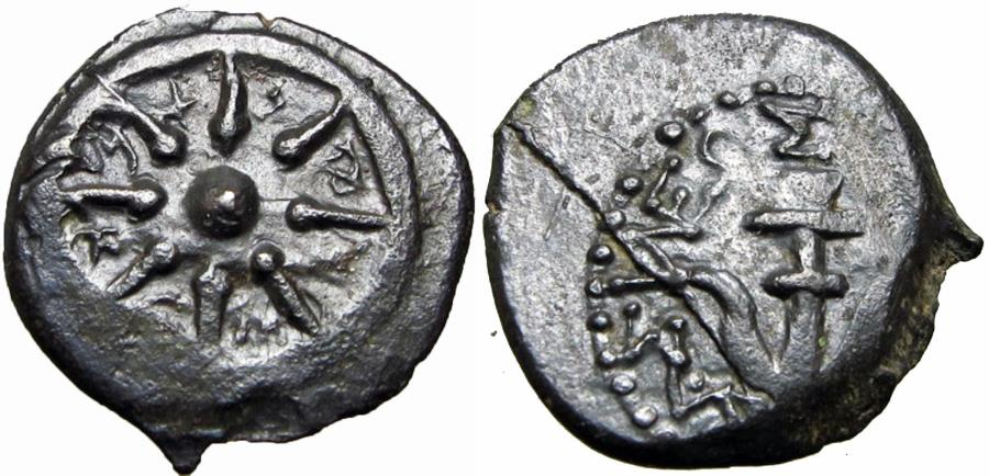 Ancient Coins - JUDAEA, Hasmoneans. Alexander Jannaeus. 103-76 BC. The Biblical mites, Rarely well centered both sides !!!
