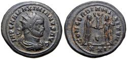Ancient Coins - MAXIMIANUS. 286-305 AD. Æ Double Antoninianus, Medalic coin .unpublished for This peculiar denomination.