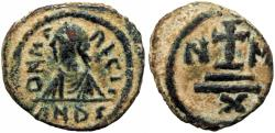 Ancient Coins - Maurice Tiberius. 582-602. Dated year 6.