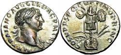 Ancient Coins - Trajan. AD 98-117. AR Denarius.