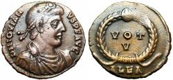 Ancient Coins - Jovian Æ Nummus. Alexandria, AD 363-364.