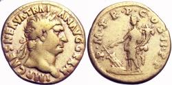 Ancient Coins -  Trajan. AD 98-117. AV Aureus .