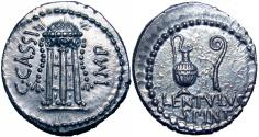 Ancient Coins - C. Cassius Longinus and P. Cornelius Lentulus Spinther