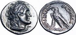 Ancient Coins - Ptolemy VI Philometor, 180 – 145 BC. Didrachm.