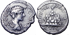 Ancient Coins - CAPPADOCIA, Caesarea -Eusebia. Geta. As Caesar, AD 198-209.Unpublished in the standard references!!!!